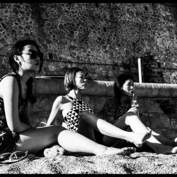 Japanese on the Beach