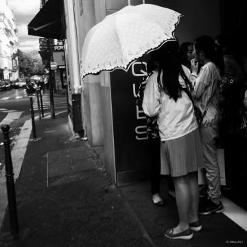 White Japanese Umbrella