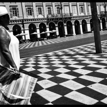 On Her Way to the Squares